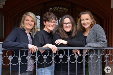 Das Team der Frühen Hilfen des Landkreises Lörrach: (von links) Viola Frei, Beate Schapfel, Christine Sautter, Ronja Neumann. Foto: Fotohaus Trefzger, Lörrach