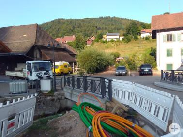 Glasfaserausbau im Ortskern Wies Richtung Kühlenbronn und Fischenberg