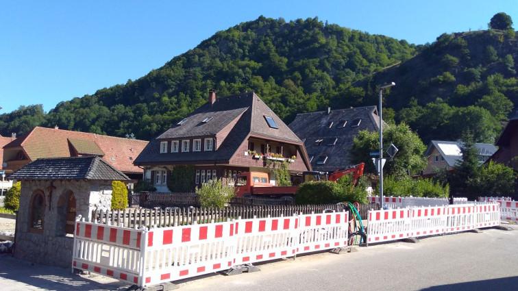 Bau des Abzweigs Ledergasse Richtung Seeweg, Königshütte, Rollsbach, Wieden