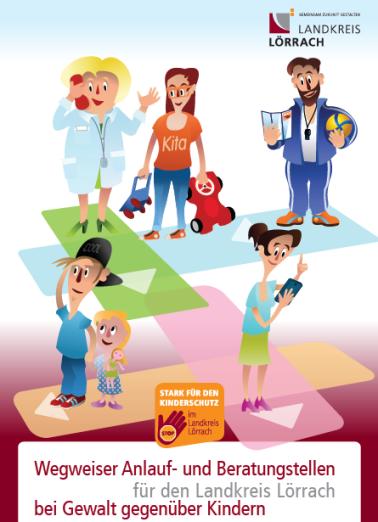 Titelseite der Broschuere Wegweiser Kinderschutz