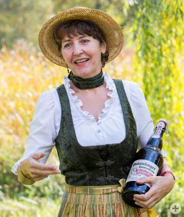 Unterwegs mit Naturpark-Gästeführerin Elisabeth Reiner, die sich nicht nur hervorragend mit Bier, sondern auch in Bräunlingen und Umgebung auskennt.