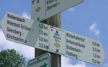 Der Schwarzwaldverein kennzeichnet die Wanderwege
