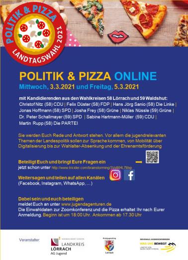 Plakat: Politik & Pizza online